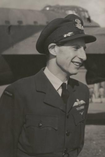 Flight_Lieutentant_Peter_Isaacson_DFC_AFC_DFM_1943